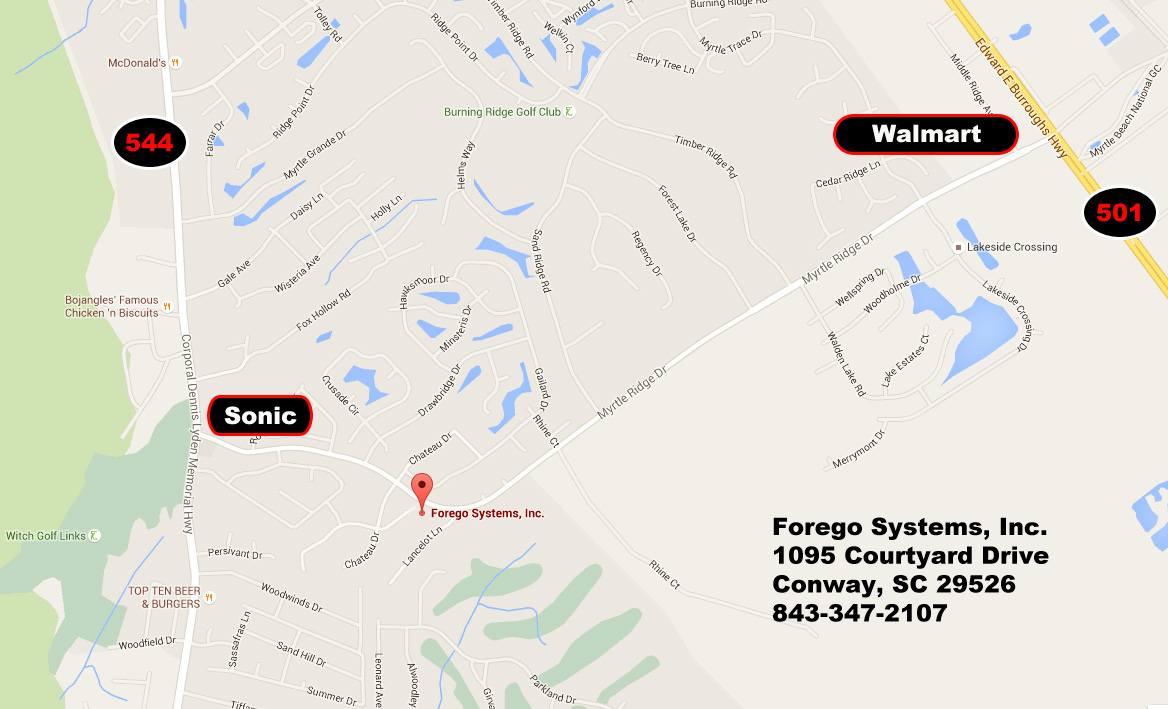 Map to Forego Systems, Inc.